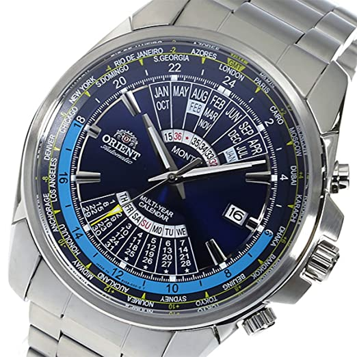 Amazon.com: ORIENT perpetual calendar Automatic Mens Watch SEU0B002DH Navy Blue: Watches