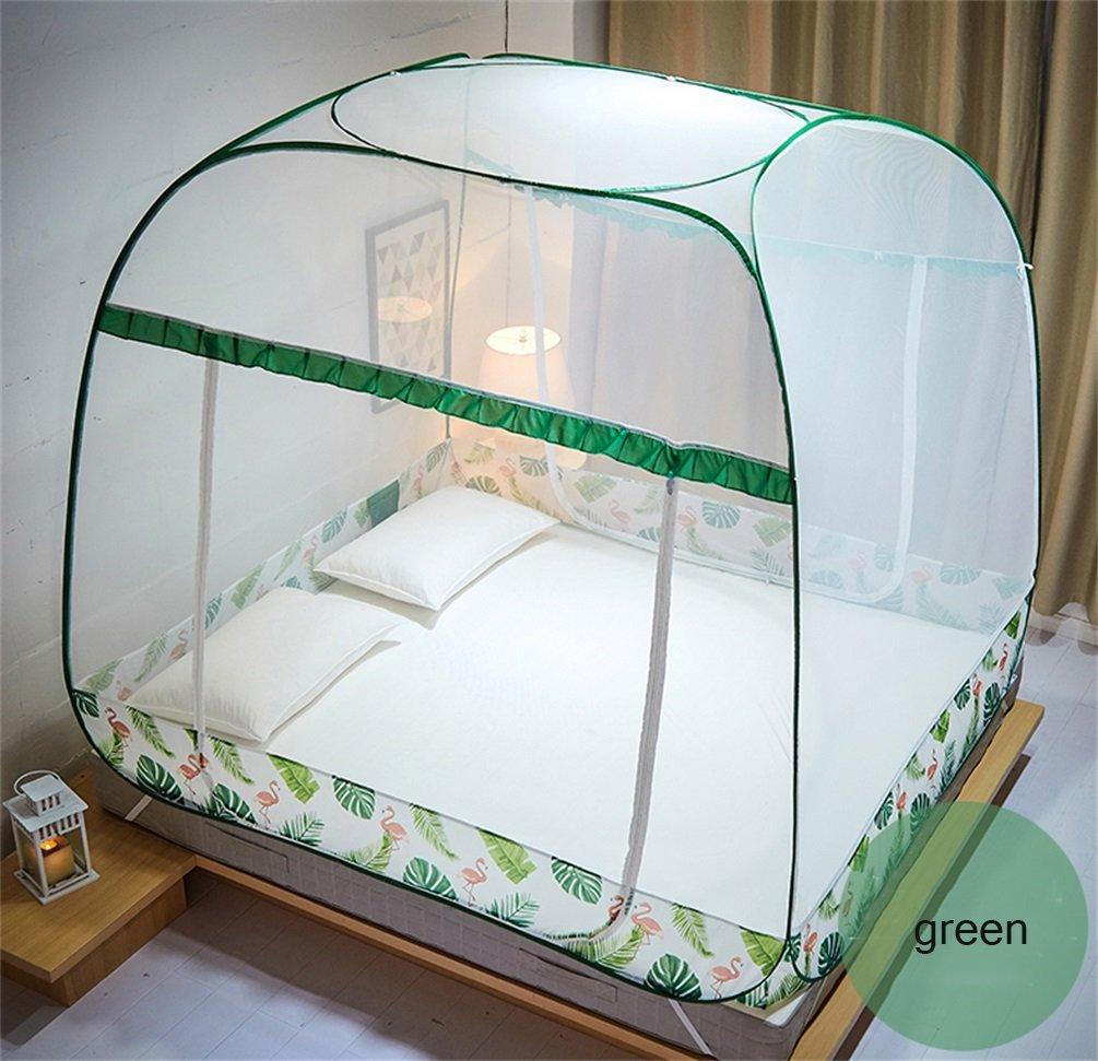 Moskitonetz-Bett-Überdachungs-Zelt-Vorhänge für Betten Schlafzimmer frei zu installieren faltender Reißverschluss-tragbarer Innenkampierender Student im Freien anwenden auf 1.5 / 1.8m Bett ( Farbe : D , größe : 1.5m )