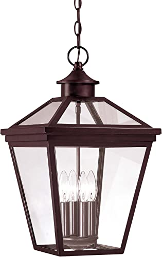 Savoy House 5-145-13 Outdoor Pendant with Clear Shades, English Bronze Finish