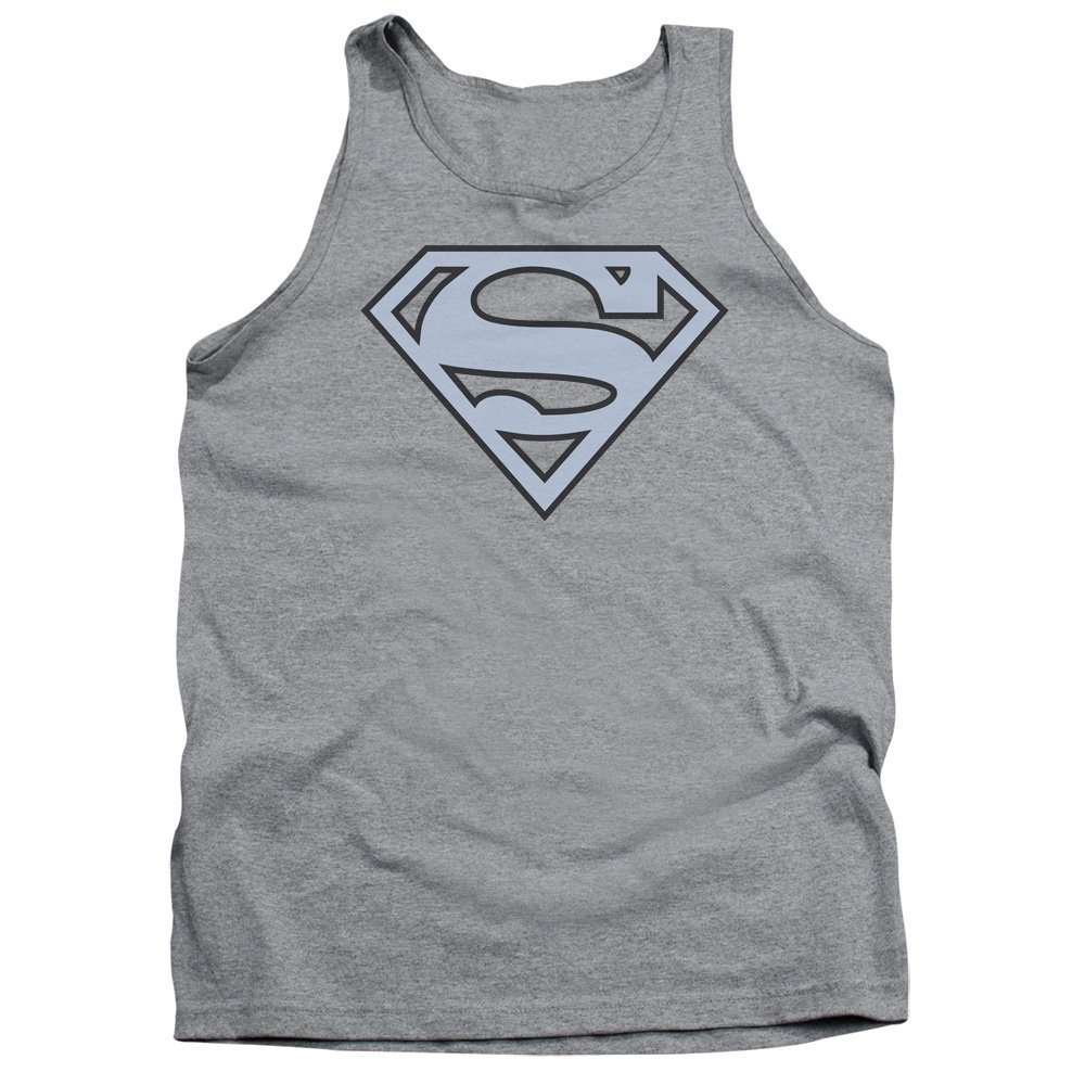 Superman Carolina Blue/&navy Shield Adult Tank Top