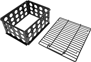 MixRBBQ Charcoal Chamber Set for Dyna-Glo DGO1176BDC-D DGO1890BDC-D Vertical Offset Charcoal Smoker, Porcelain-Enameled Steel Charcoal Briquettes Basket Grill Accessory