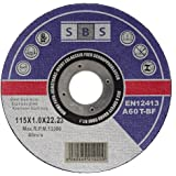 SBS Dischi da taglio 115x 1,0mm inox Dischi flessibili in qualità professionale –10pezzi
