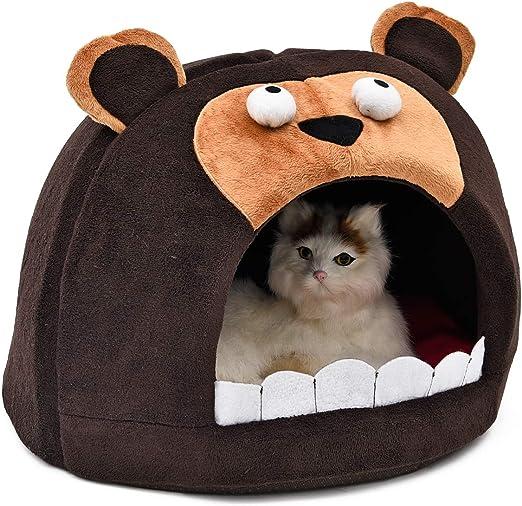 Ohana cesta cesto para gato en forma de iGloo Bear, nicho portátil ideal para pequeño gato Gatito de se puesta 46 x 46 x H 30 cm: Amazon.es: Productos para mascotas