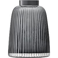 LSA International Pleat Vase, H10.25in, Grey