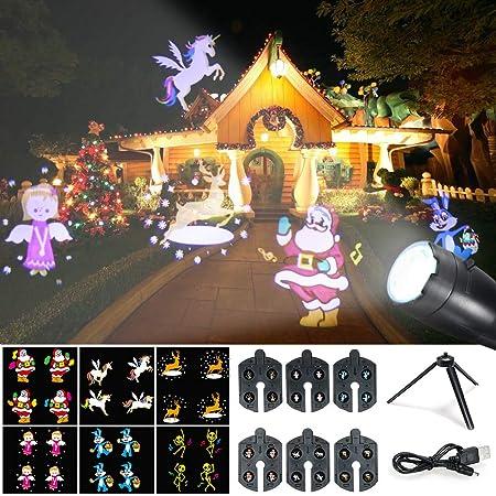 Weehey Proyección Luces LED Luces de Navidad Proyector Handheld ...