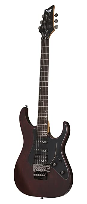 Schecter 3857 - Guitarra eléctrica, color walnut satin: Amazon.es: Instrumentos musicales