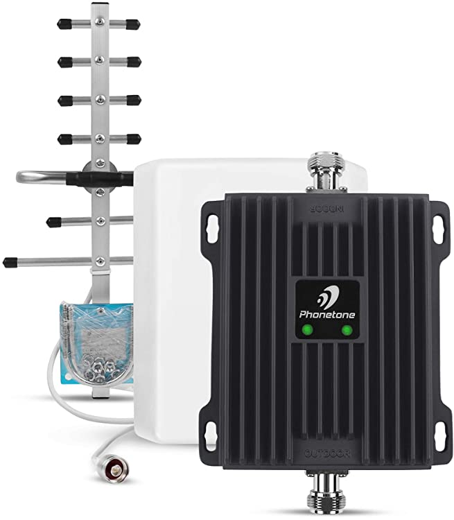 Phonetone 携帯電話信号増幅器 電波ブースター UMTS LTE 900/1800MHz 65dB