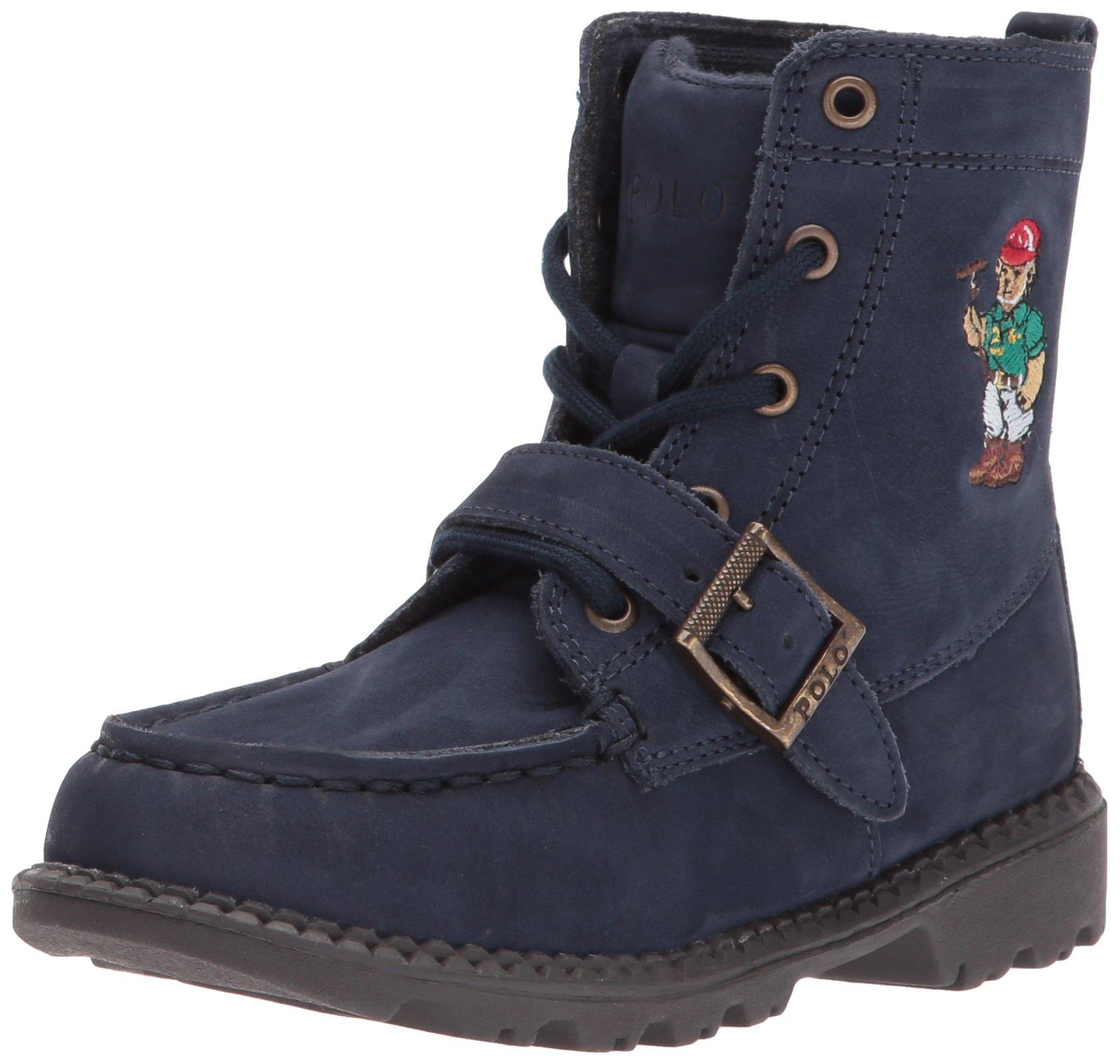 Polo Ralph Lauren Kids Baby Ranger Hi II Fashion Boot, Navy Nubuck, 9 Medium US Toddler