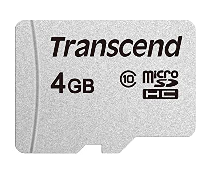 Transcend usd300s - Tarjeta microsd de 4 GB, microsdhc Clase 10