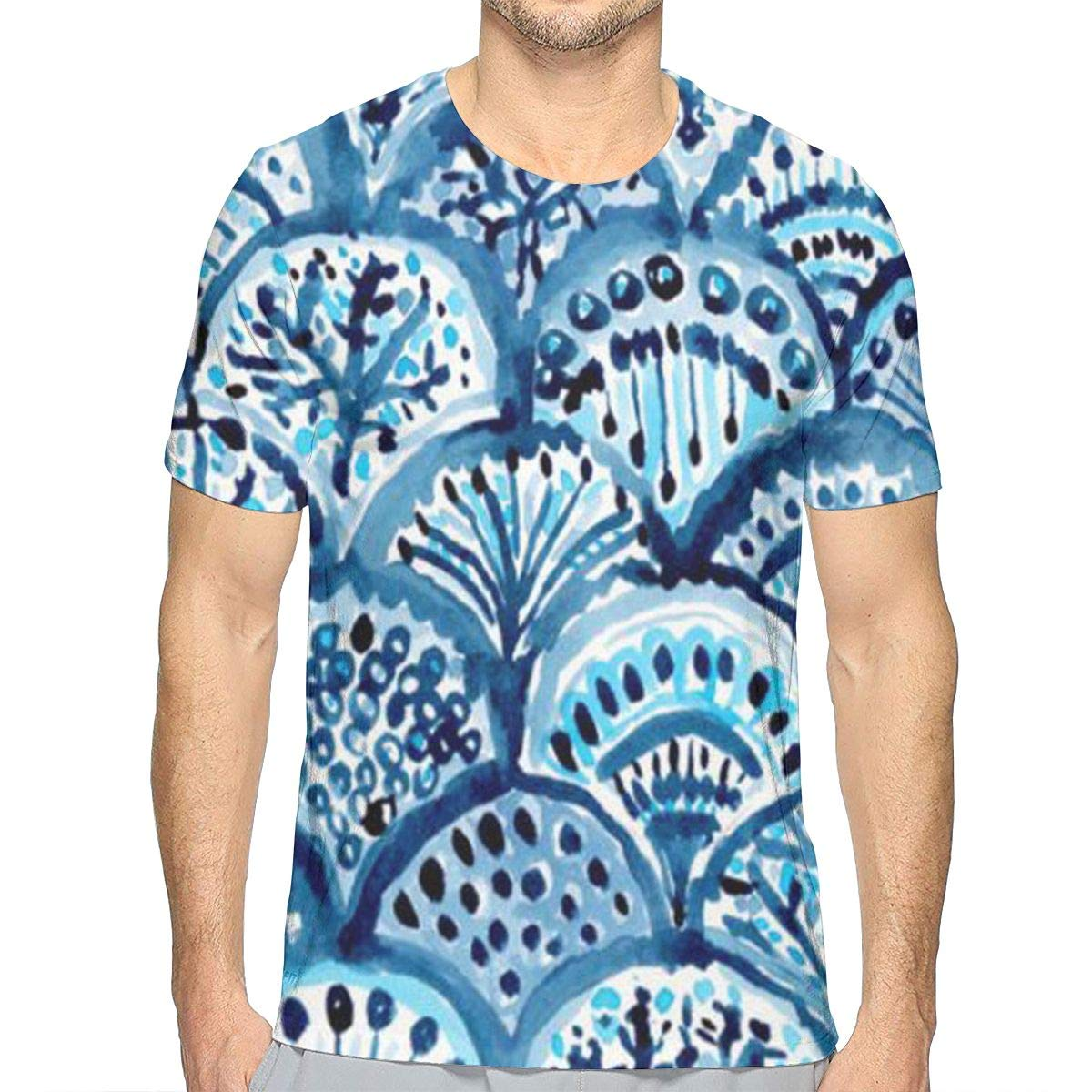 FANTASY SPACE Hip Pop Short Sleeve T-Shirts Top Tees for Men Boys Teens Adult, Regular Sizes