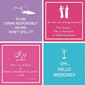 Funny Cocktail Napkins 40 Count Box Cocktail Napkins Funny Sayings Colorful Variety Pack 40 Total