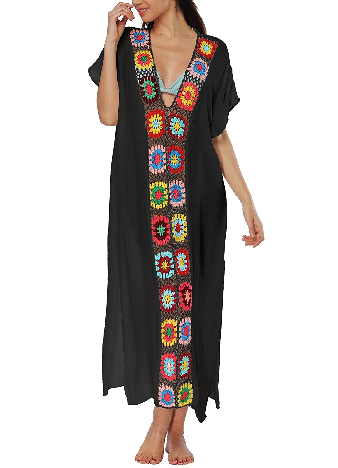 1bbf2335e0 Sexy Bamboo cotton Swimsuit Cover Ups is a must-have item for your Summer  vacation. LOVELY FIT: You'll love the airy, flowy fit of our ladies' kaftans  that ...