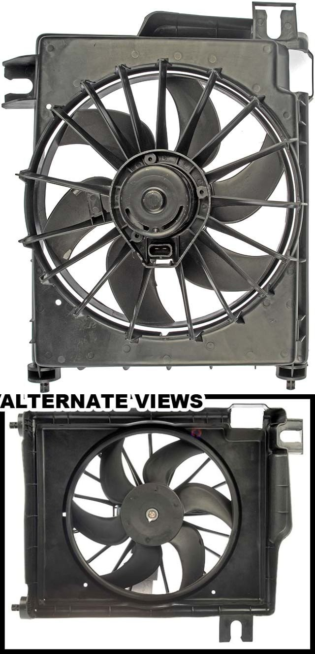 APDTY 731146 AC Condenser Cooling Fan Blade Motor Shroud Assembly Fits 2002-2008 Dodge Ram 1500 Pickup 2003-2007 Ram 2500 2004-2007 Ram 3500 Replaces 5080646AA, 5080647AB, 5093760AA, 68004163AA