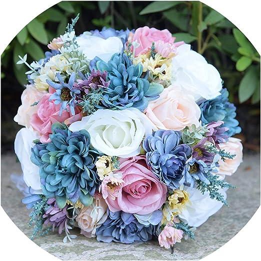Entertainment-Moment - Ramo de Flores Silvestres de Seda Azul ...