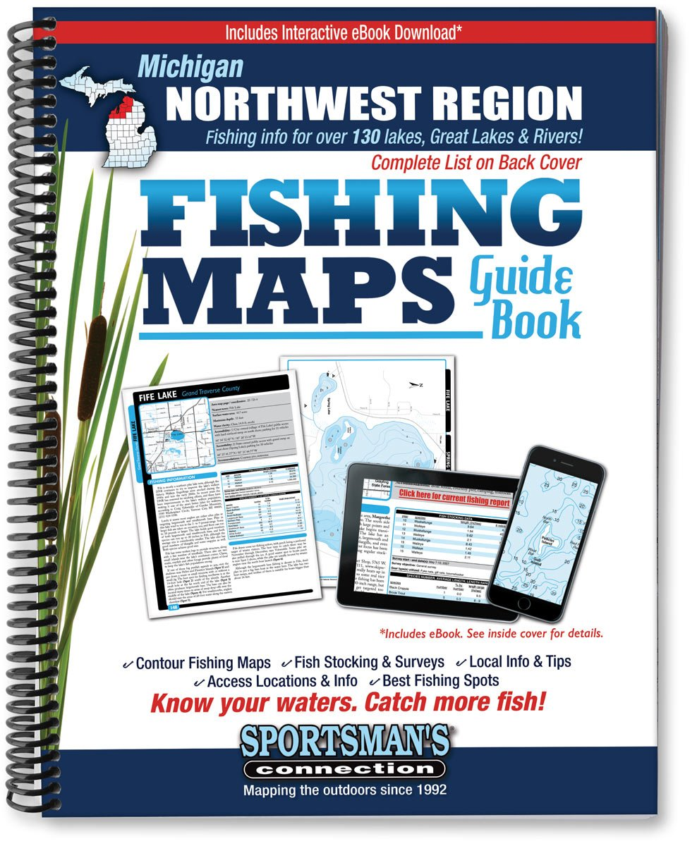 Northwest Michigan Fishing Map Guide: Sportsman's Connection