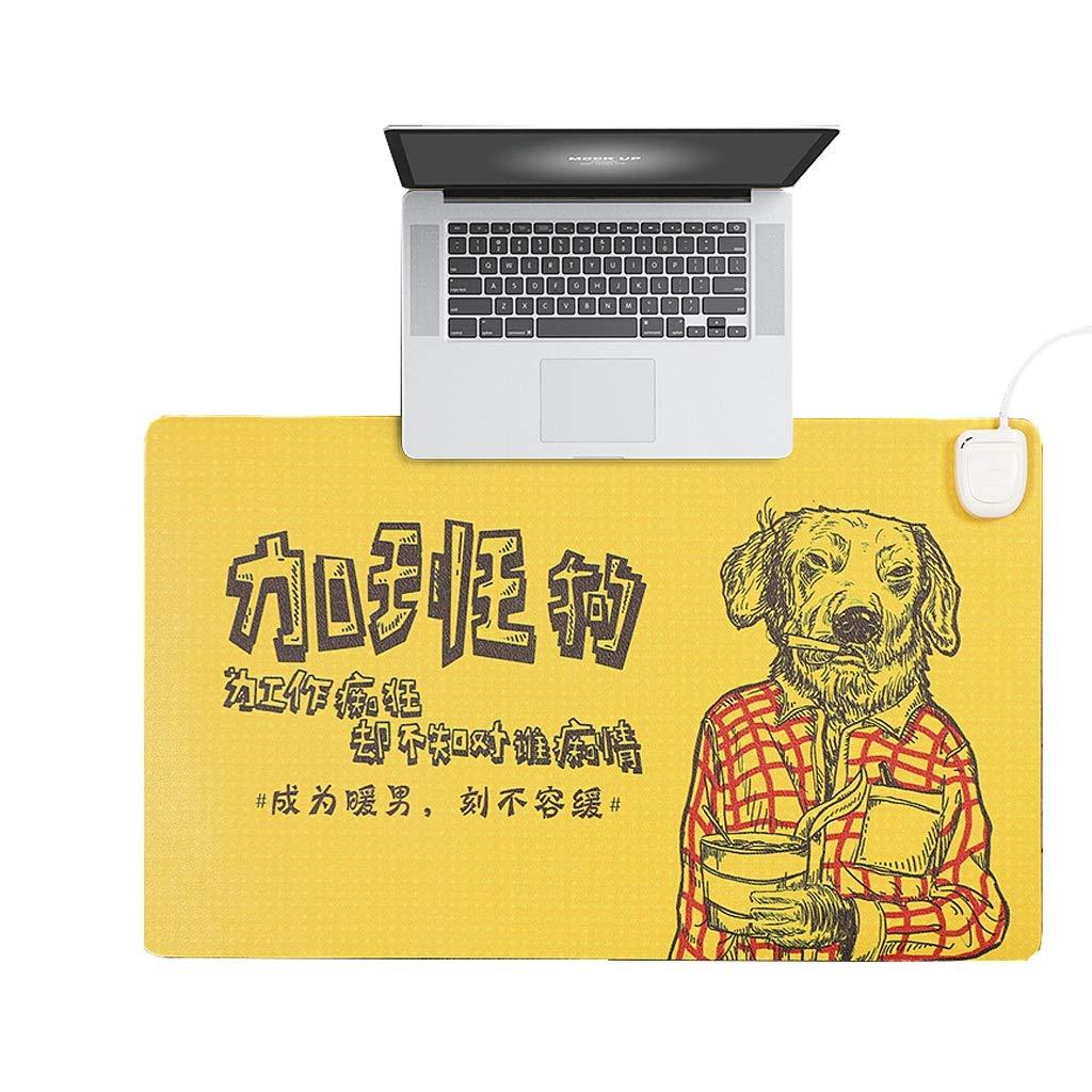 Elektrische Heizung Tischset, Heizung Tischset Heizung Hand Warm Mouse Pad, Schreibtisch Heizung Pad (24V Security Upgrade) (Farbe   Gelb)