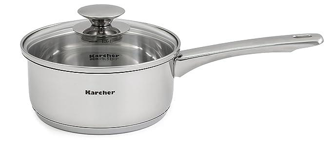Karcher Jule Batería de Cocina, Acero Inoxidable, 22 cm, 11 Unidades