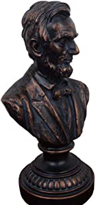 BXZ Home Decoration Ornaments Lincoln Bust Statue Us President Abraham Lincoln Resin Bust Statue Sculpture Crafts Character Souvenir