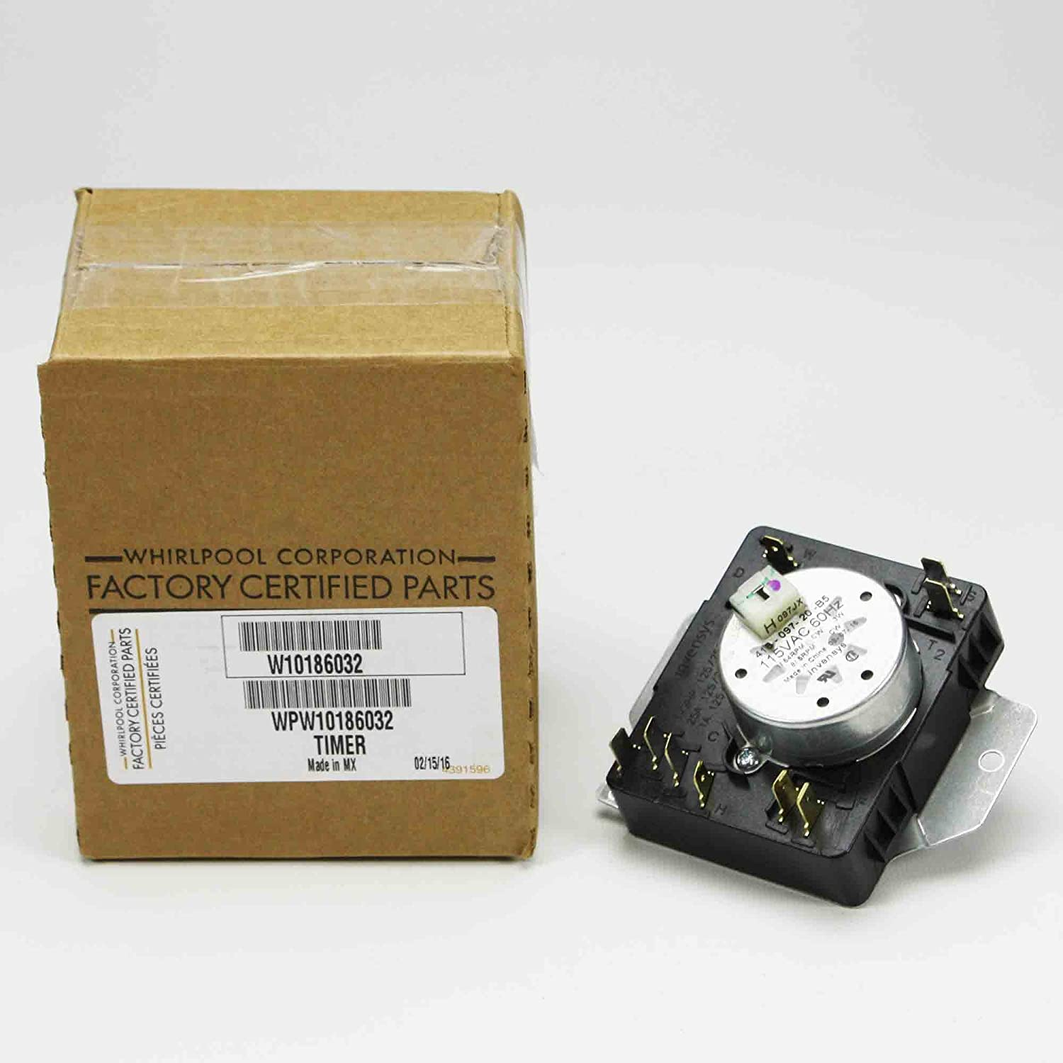 Whirlpool WPW10186032 Timer
