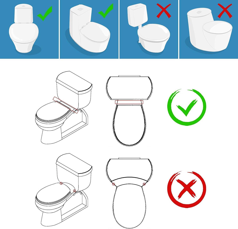 Toilet Attachment,PowerDoF EB5800 Self Cleaning Nozzle Fresh Water Non-Electric Mechanical Bidet Toilet Seat Attachment