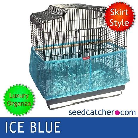 seedcatcher.com Organza Ice Azul Jaula de pájaros atrapasueños ...