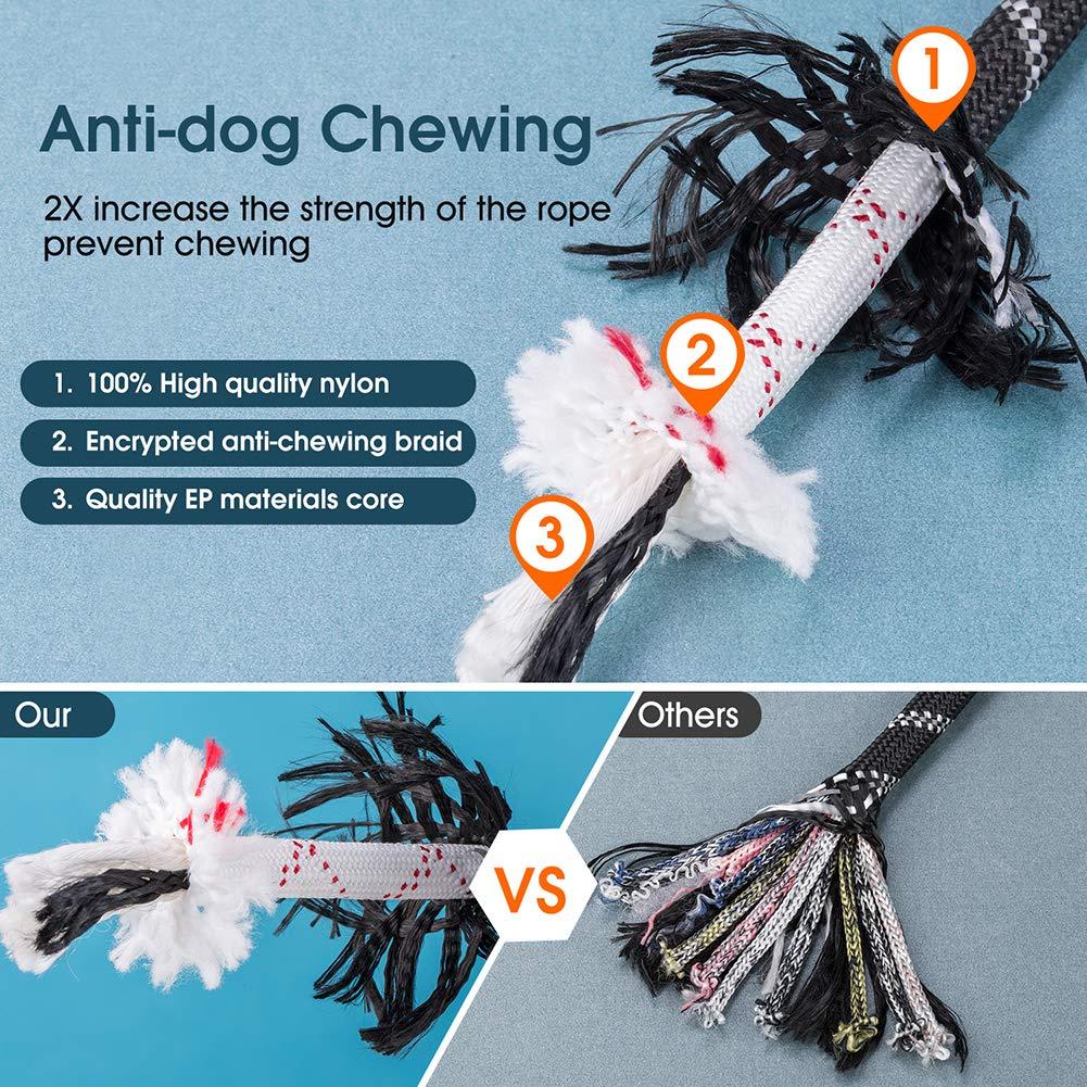 JBYAMUK 1,5 m Strong Dog guinzaglio con Comoda Impugnatura Imbottita e Altamente Riflettente Fili per Cani di Taglia Media e Grande Viola