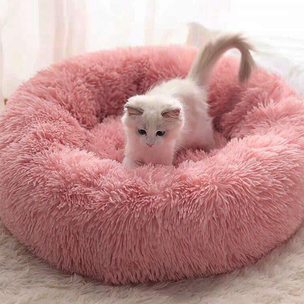 50CM, Kaki Mjjsk Letto per Gatti e Canile Cuccia Gatto Donuts da Gatto di Tondo Mobile