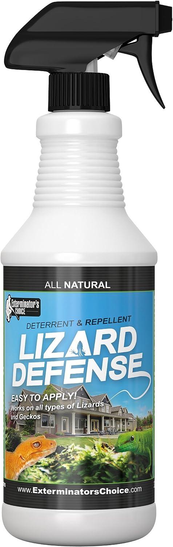 Exterminators Choice Lizard Defense Natural Repellent Spray 32oz for Lizards & Geckos Home and Garden Deterrent & Repellent