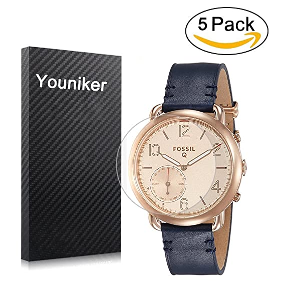 Youniker 5 Pack Fossil Q Tailor Screen Protector, Fossil Q Tailor Screen Protector Foils for Fossil Hybrid Smartwatch Crystal Clear HD, Anti-Scratch, ...