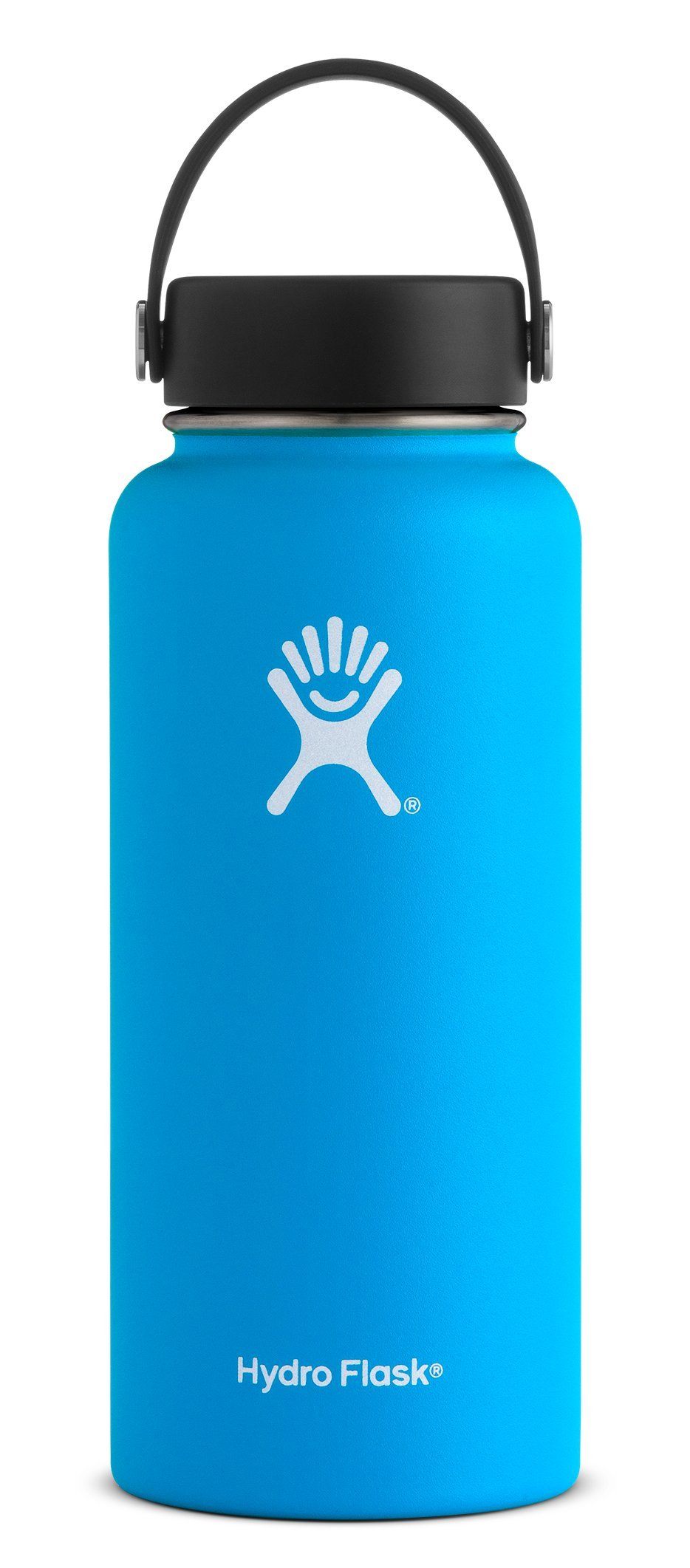 Hydro Flask 32 oz Water Bottle - Stainless Steel & Vacuum Insulated - Wide Mouth with Leak Proof Flex Cap - Pacific by Hydro Flask