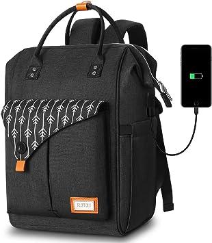 Mochila Mujer con Puerto de USB, Mochila para Portátil 15,6 Pulgadas, Multifuncional Mochila Portátil para Negocio, Viaje, Trabajo: Amazon.es: Equipaje