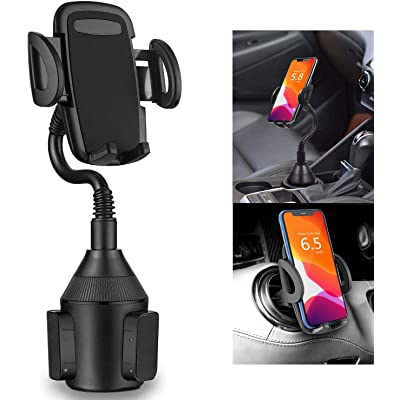 MARRRCH Car Phone Mount,Adjustable Gooseneck Cup Car Phone Holder Compatible with iPhone Xs/XS MAX/XR/X/8/8Plus/7/7Plus,Galaxy S7/S8/S9/S10/S10e,Google Nexus,Huawei and More (Black)