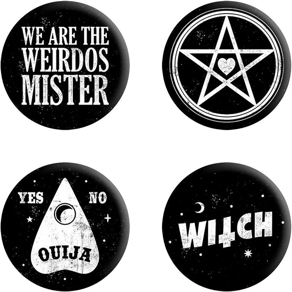 Grindstore - Pack de chapas modelo We Are The Weirdos Mister (Tamaño Único) (Negro): Amazon.es: Ropa y accesorios