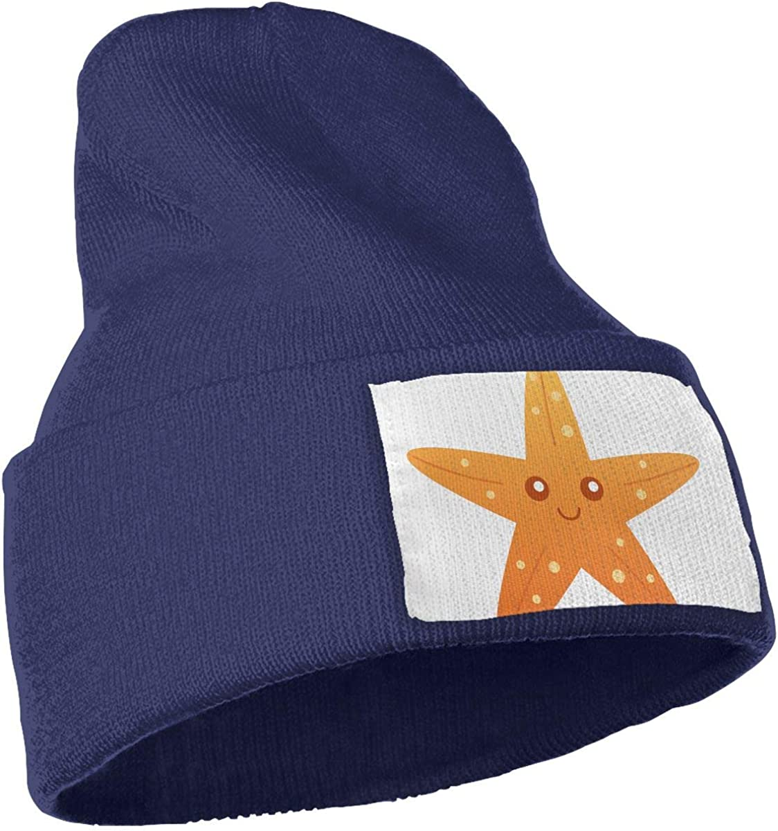 QZqDQ Cartoon Starfish Unisex Fashion Knitted Hat Luxury Hip-Hop Cap