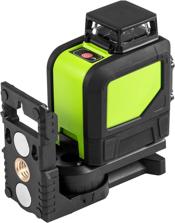 Chrisun Niveau Laser Crois/é Laser Rotatif Rouge HP-901CR 5 Lignes Laser 360/° Laser Rotatif Laser Level 3D Kit Rotatif De Nivellement Automatique
