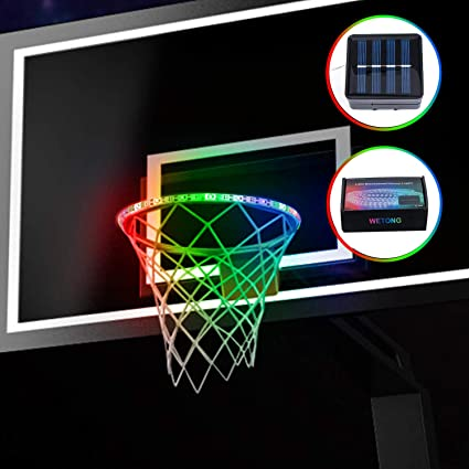 Luminous Basketball Night Light Training Ball Hoop Light LED Basketball Rim