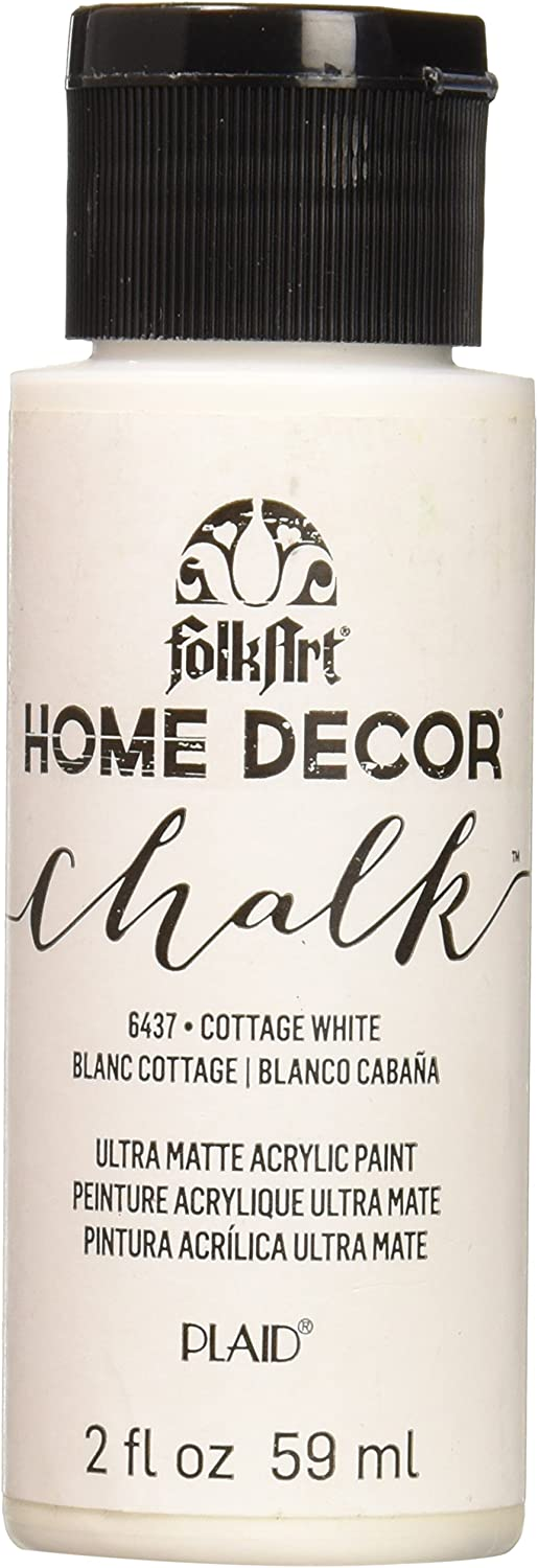 FolkArt Home Décor Chalk Furniture & Craft Paint in Assorted Colors, 2oz, Cottage White
