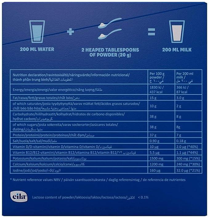 Valio Leche en polvo Sin lactosa Semidesnatada - 2 paquetes de 400 gr. (Total 800 gr.): Amazon.es: Alimentación y bebidas