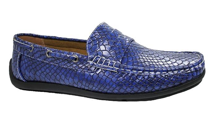 Niadi Collezioni - Mocasines para hombre azul turquesa 40: Amazon.es: Ropa y accesorios