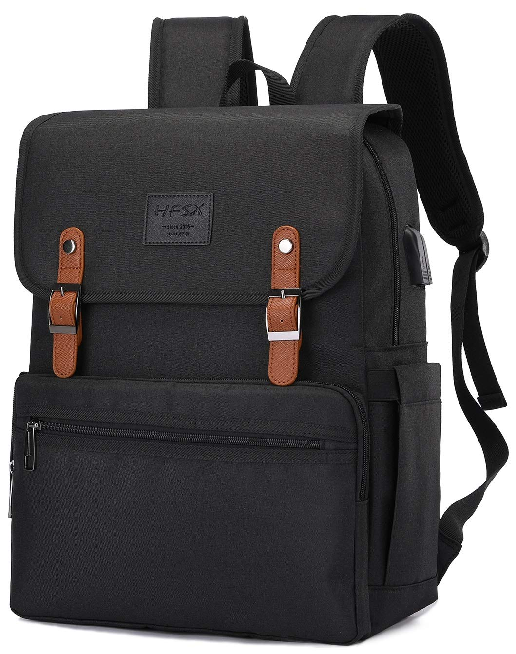 709adccb3745 Anti Theft Laptop Backpack Men Women Business Travel Computer Backpack  School College Bookbag Stylish Water Resistant Vintage Backpack with USB  Port ...