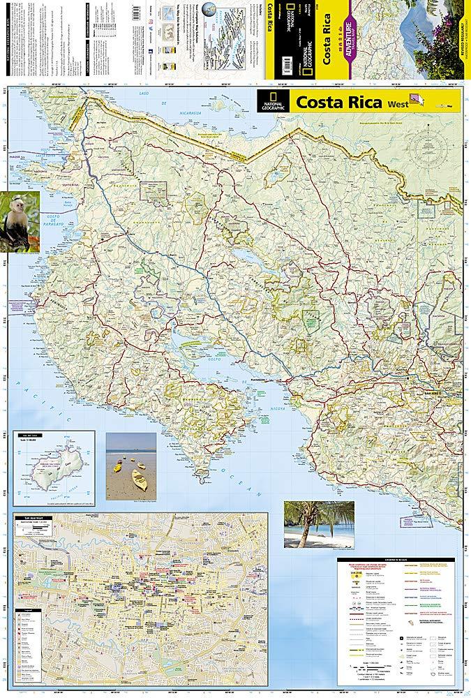 Costa Rica: Travel Maps International Adventure Map: NG ...