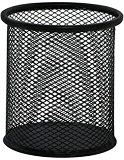Q-Connect Cubilete Portalápices Metal Rejilla Negro Diámetro 86 Mm Altura 105 Mm