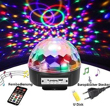 DiscokugelSOLMORE LED Partylicht Disco Lichteffekte Mit Fernbedienung Discolicht Projektor Beleuchtung Fr Party Wohnzimmer