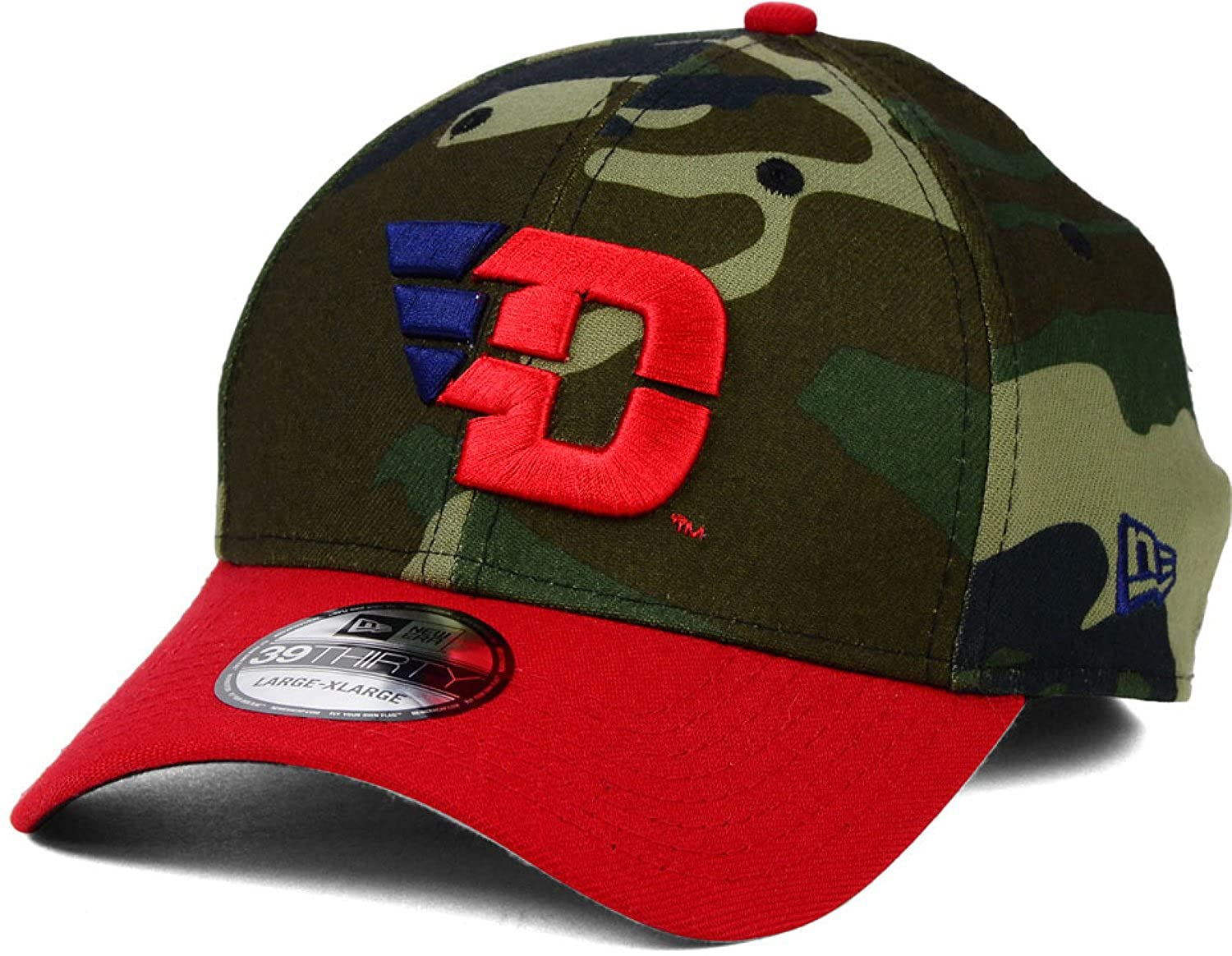 4ff0e5ae2d6 Amazon.com  Dayton Flyers League Classic Camo New Era 39Thirty NCAA Stretch  Fit Hat Cap (Woodland Camo Red