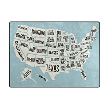 Amazon.de: Vilico Map of United States America with Names ...