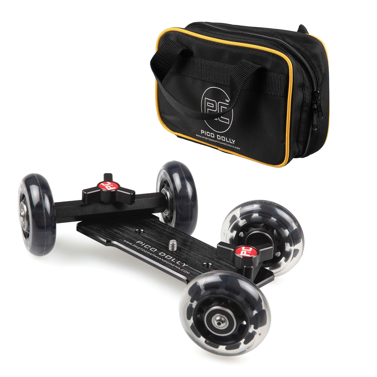 Pico Flex Dolly, Camera Table Dolly, Skater Dolly, Camera Slider Dolly, Mobile Rolling Slider Dolly Car Skater Video Track Rail, DSLR Mirroless Camera Camcorder Rig (Dolly Only) by P&C
