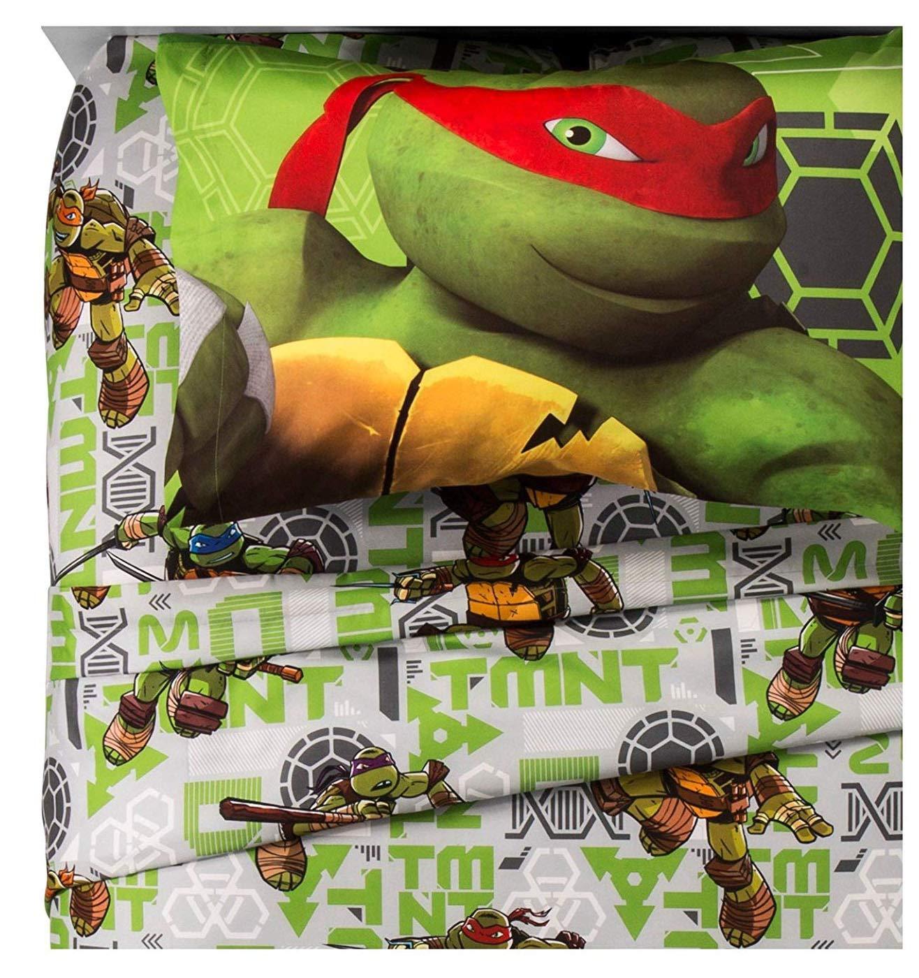 Teenage Mutant Ninja Turtles Green Sheet Set (Twin)