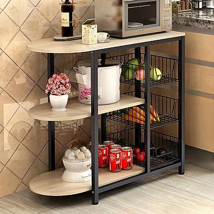 HWF Unità di mensole Scaffale a muro per forno a microonde Cucina a ...