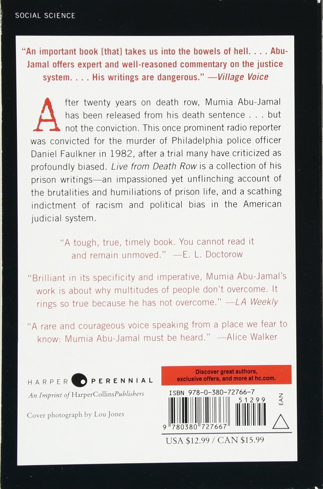 Live From Death Row: Mumia Abujamal, John Edgar Wideman: 9780380727667:  Amazon: Books