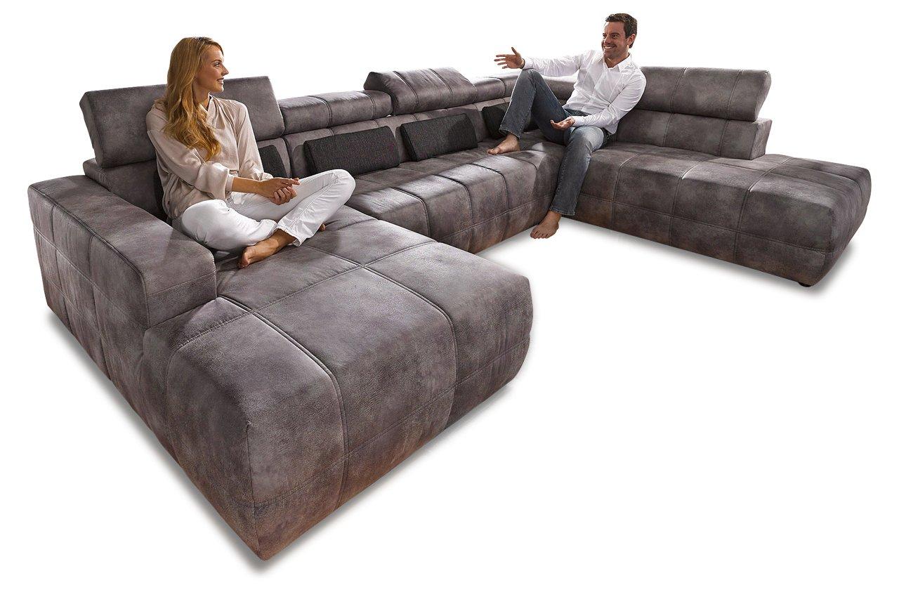 Sofa Wohnlandschaft Brandon Mit Sitzverstellung Grau Luxus